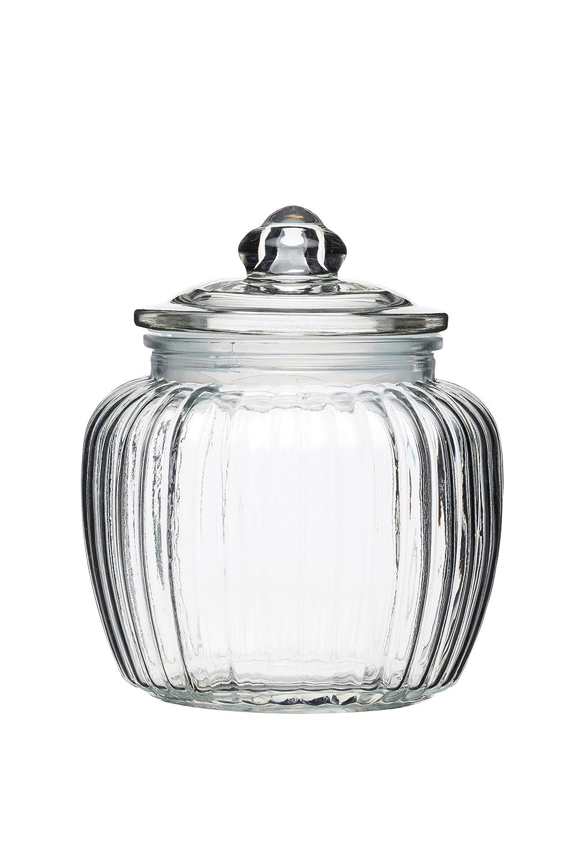 Kitchen Craft - Barattolo Piccolo in Vetro, 600 ml, Colore: Trasparente (Confezione da 1) KCHMJARSML