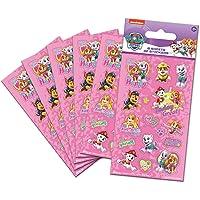Paper Projects 01.70.15.047 Paw Patrouille Roze Party Bag Stickers Zes Bladen), 12,5 cm x 7,5 cm