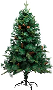 PARANTA 4FT Christmas Tree with Pine Cone Decoration Unlit, 417 Branch Tips, Artificial Christmas Tree