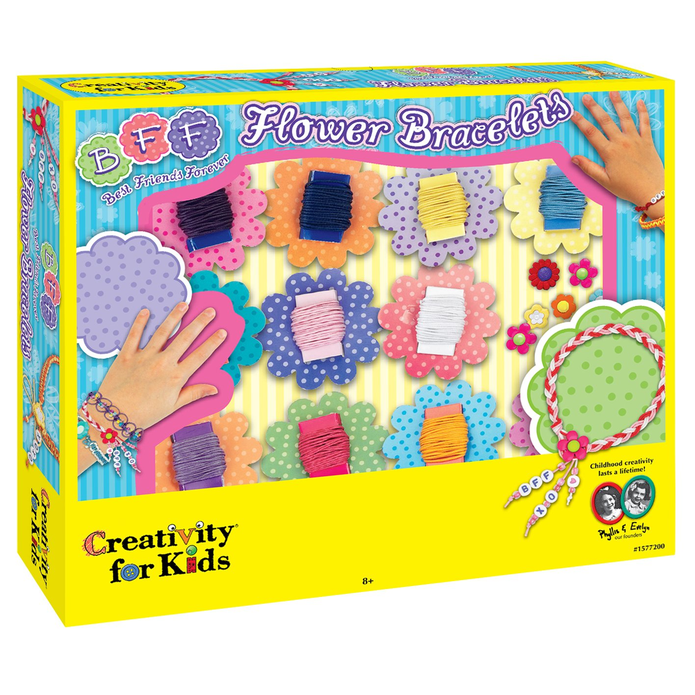 Creativity for Kids CFK1577 - BFF-Blumenarmbänder, Kinder-Bastelset West DesignCFK1577