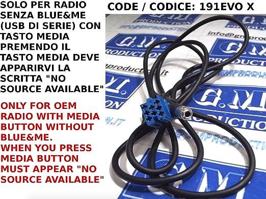 11 opinioni per G.M. Production- 191EVO XP- Cavo Aux dal 2012 MP3 iPhone iPod Fiat Panda Punto