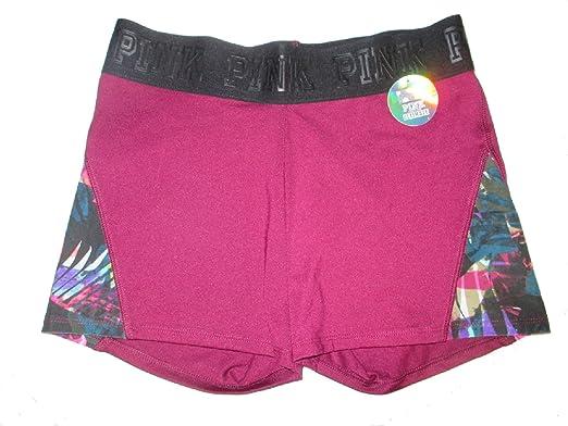 8ec099ff4d0f6 VS Pink Victoria's Secret Pink Ultimate Shorts Maroon Palm - Small ...