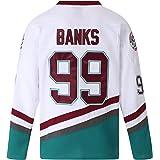 MOLPE Youth Ducks Jersey, Youth Hockey Jerseys, Conway Banks Bombay Goldberg Ducks Hockey Jersey for Boys and Kids