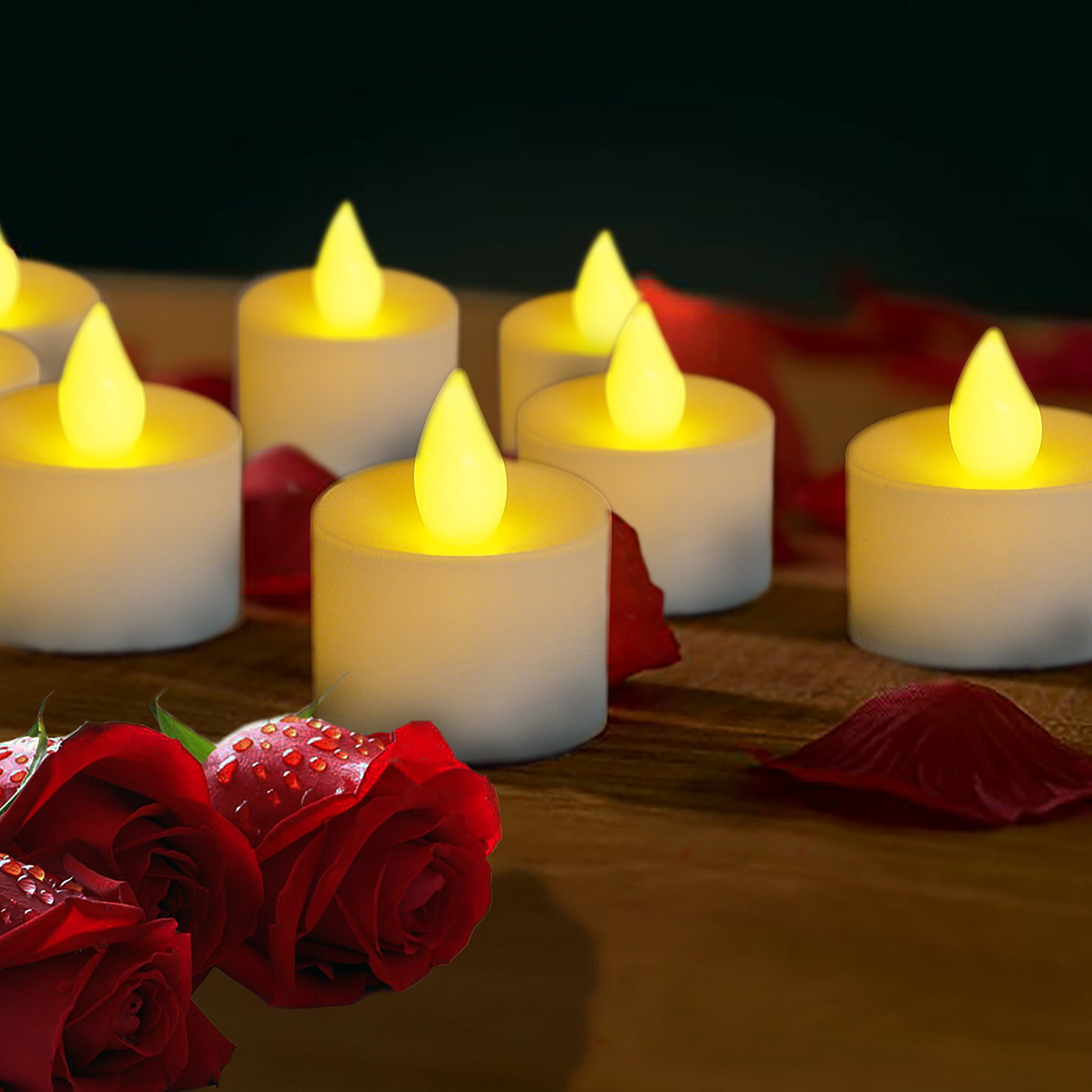 LED Candles Set of 24 Party Decor Holiday and Romance Battery Operated Smokeless Flame Less Candles