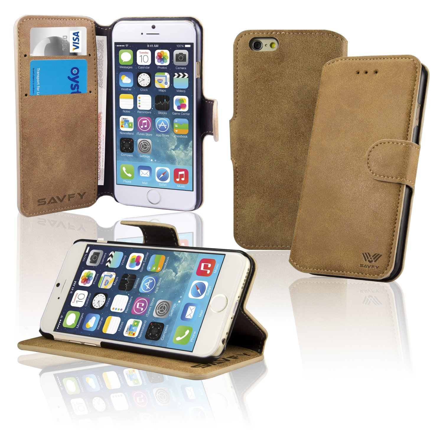 Iphone 6s plus case leather wallet coversavfy iphone 6 amazon iphone 6s plus case leather wallet coversavfy iphone 6 amazon electronics reheart Gallery