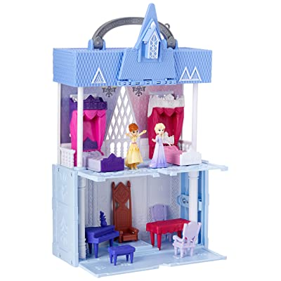 Disney Frozen Pop Adventures Arendelle Castle Playset with Handle, Including Elsa Doll, Anna Doll, & 7 Accessories - Toy for Kids Ages 3 & Up: Toys & Games
