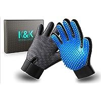 K&K Pet Grooming Glove Set. Premium Deshedding glove for easy, mess-free grooming…