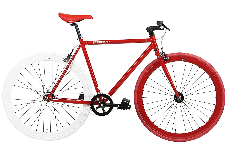 FabricBike-Fahrrad Fixie Rot, Starre Nabe, Single Speed, Fixed Gear, Fixie Bike, Rahmen aus Hi-Ten Stahl, 10 Kg Fabric Bike Europe