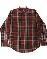 Arrow Men's Madras Shirt, Size Medium, Chocolate Truffle