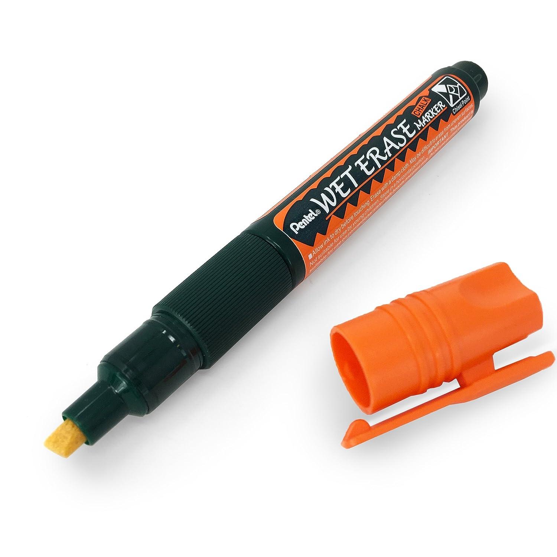 Medium Chisel Tip SMW26 Pentel Wet Erase Chalk Marker Pen Single White