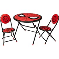 Marvel Spiderman 3 Piece Foldable Round Table and Chair Set, Ages 3+
