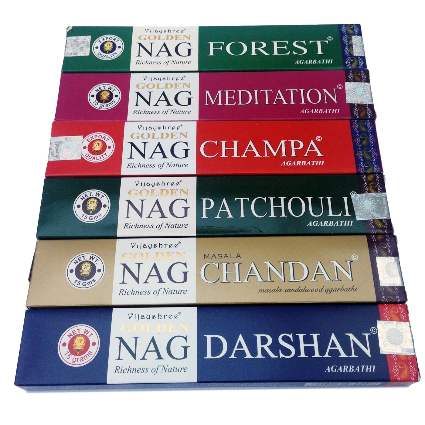 Golden Nag Champa Incense Sticks -Vijayshree-6 Boxes