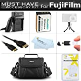 Must Have Accessory Kit For Fuji Fujifilm FinePix SL300, FinePix SL1000, S1 Digital Camera Includes Extended (2000Mah) Replacement Fuji NP-85 Battery + Ac/Dc Charger + Case + Mini HDMI Cable + More