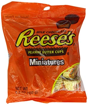 Reeses Peanut Butter Cups Minatures 150 g (Pack of ...