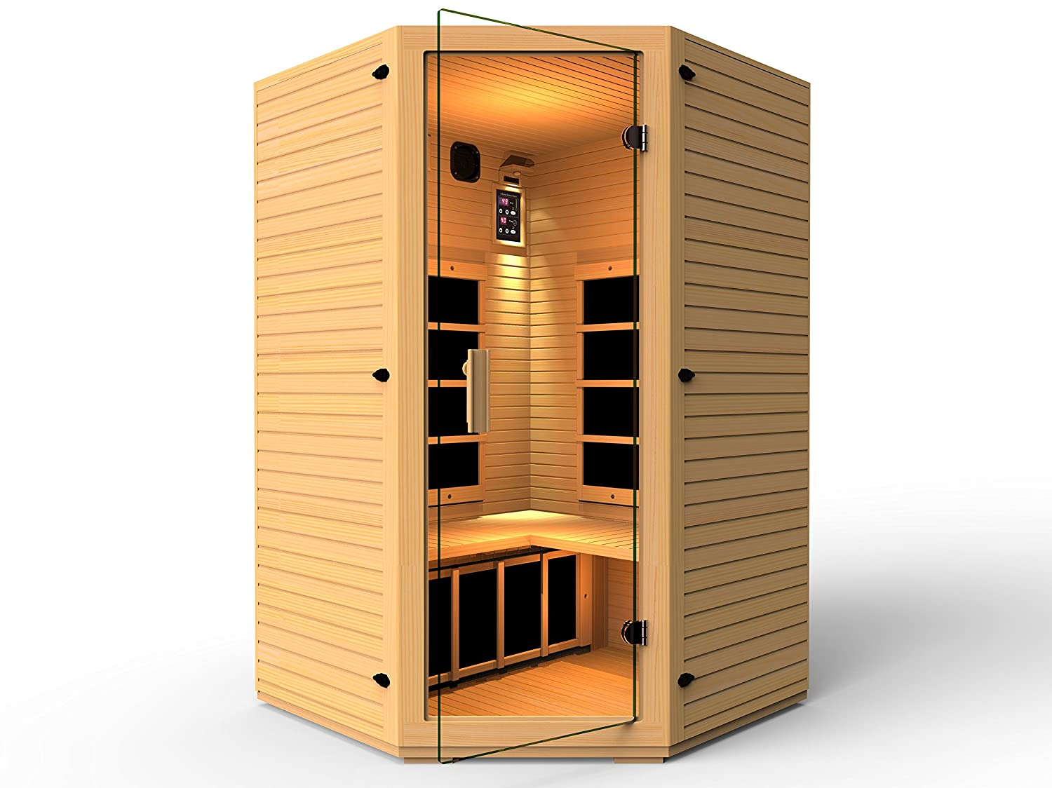 JNH Lifestyles MD34121C Infrared Sauna, 2-3 Person