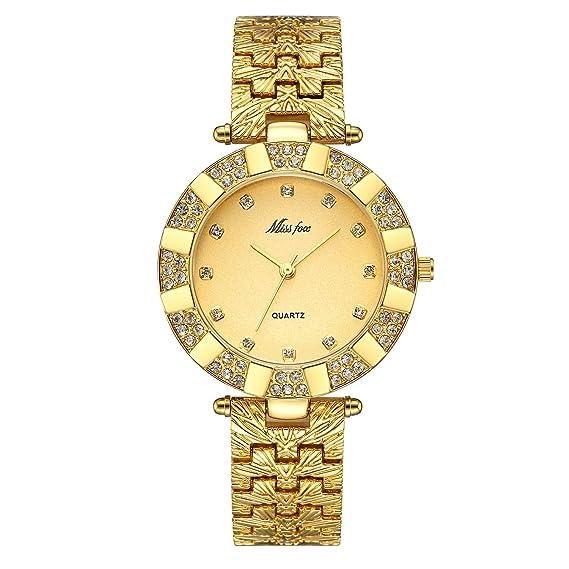 Reloj de pulsera de cuarzo para mujer, estilo informal, moderno, delgado, resistente