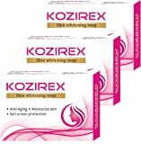 Biotrex Nutraceuticals Kozirex Skin Whitening Bath Soap, 75Gm - Combo Pack Of 3