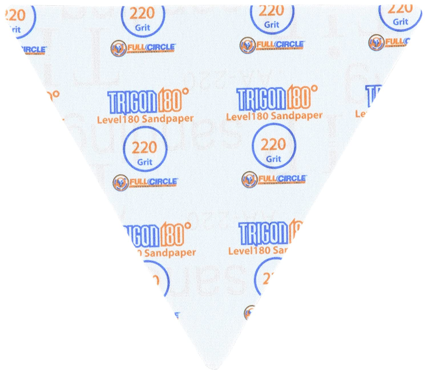 TG220 Level180 Sandpaper Triangles 220 Grit 5-Pack Full Circle International Inc