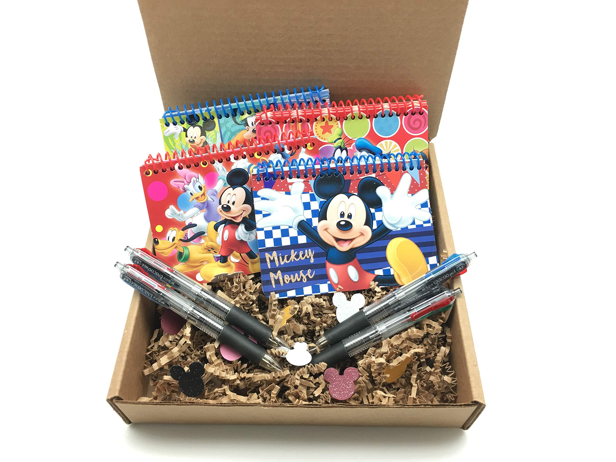 Official Disney Autograph Books 4-Pack Mickey, Minnie, Mickey & Friends, Clubhouse Friends with 4- Multi-Color Pens by Park Packs