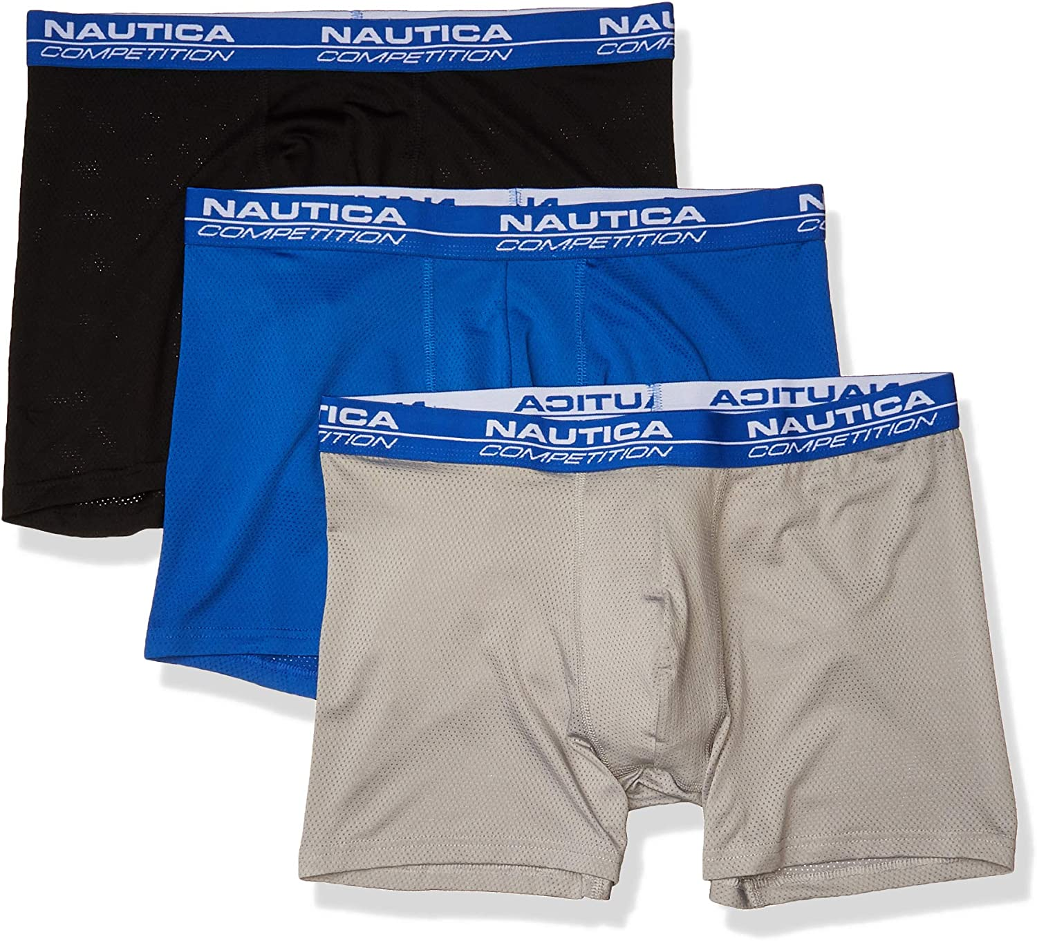 Nautica Men's Competition 3 Pack Mesh Boxer Brief