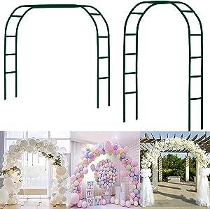 Garden Arch Wedding Arch Garden Arbor for Climbing Plant Indoor Outdoor Wedding Party Garden Patio Trellis Garden Various Bridal Party Decoration Pergola Arbor Round Top Green 4'5