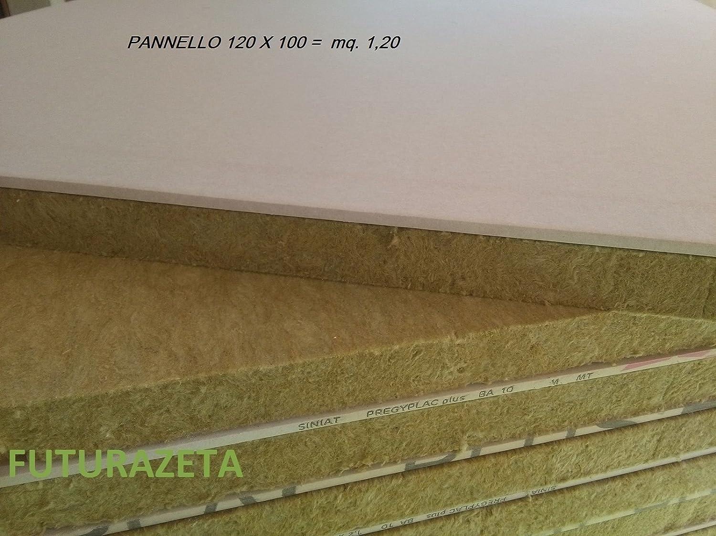 Gekoppelte Mineralwolle Gipskarton qm. 1,20 SP. 30 + 10 mm.Thermo ...