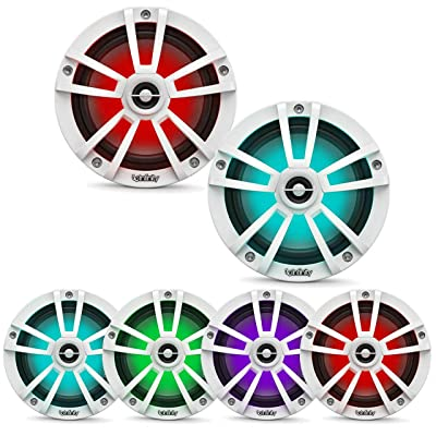 Infinity 622MLW Marine 6.5 Inch RGB LED Coaxial Speakers - White: Home Audio & Theater