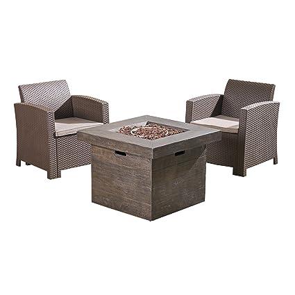 Astonishing Amazon Com Great Deal Furniture Ollie Outdoor 2 Seater Ibusinesslaw Wood Chair Design Ideas Ibusinesslaworg