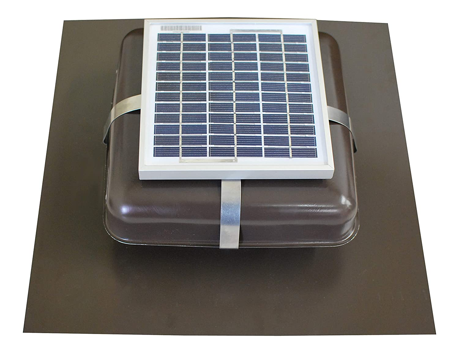 Solar Roof Vent - Solar Attic Fan - Solar RoofBlaster with Brown Vent