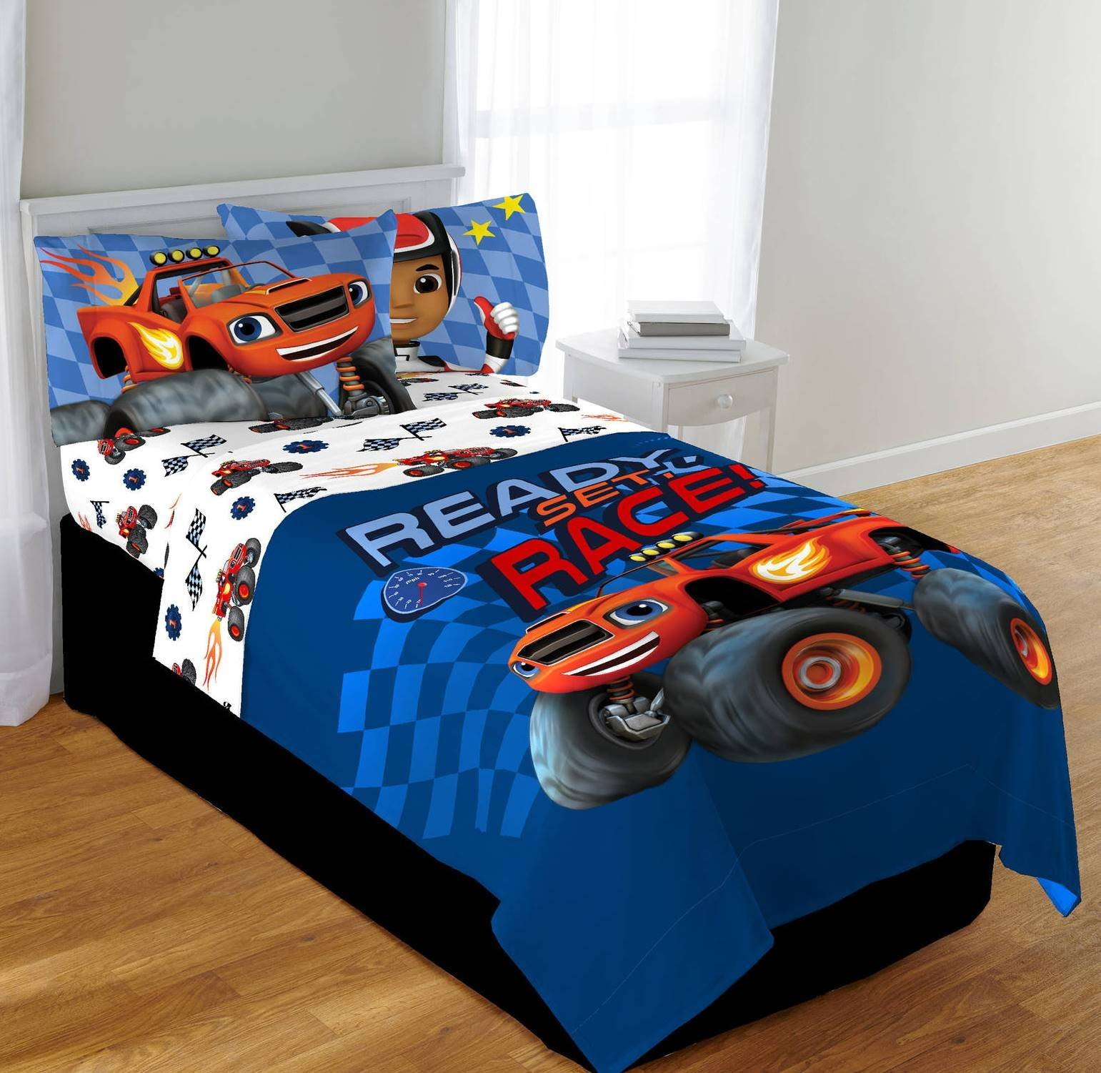 Nickelodeon Blaze and the Monster Machines High Octane Twin/Full Comforter and Full Sheet Set