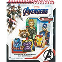 Perler Beads Marvel Avengers Pattern Instruction Pad, 34 Patterns