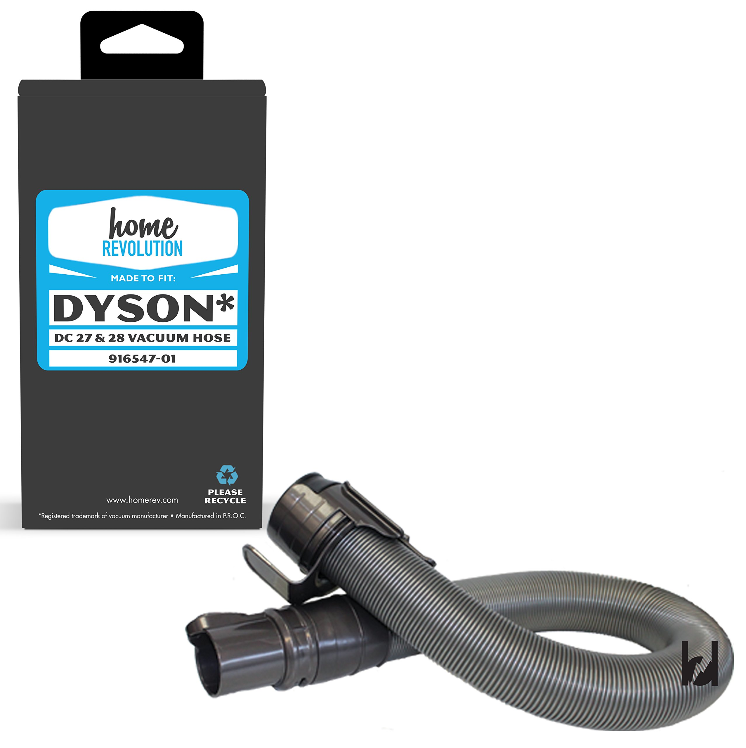 Home Revolution Replacement Vacuum Hose, Fits Dyson DC27 All Floor Upright, Total Clean, DC28 Animal Airmuscle, Animal Bagless Vacuums and Part 916547-01 and 916547-02