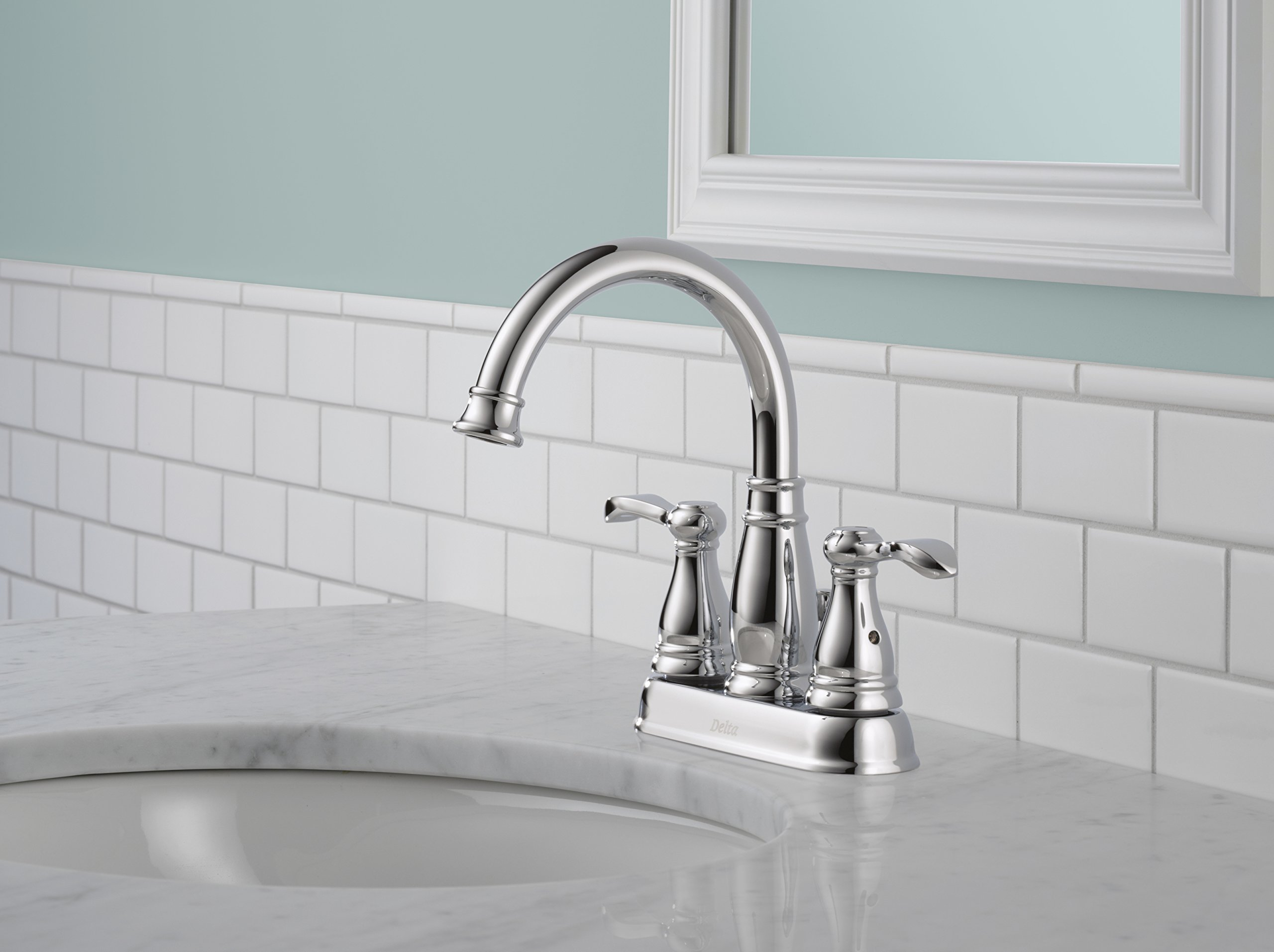 Delta 25984LF Porter Two Handle Centerset Bathroom, Chrome by DELTA FAUCET