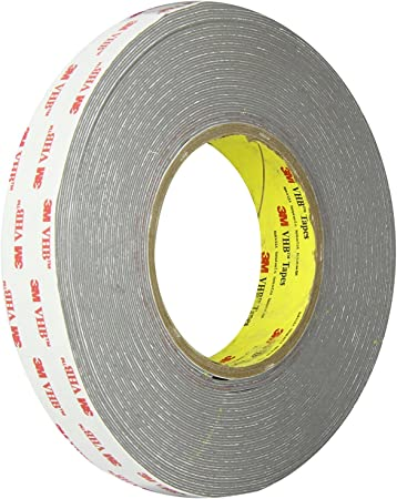 Adhesive Tapes 3M VHB Tape RP62 in Gray Double Sided Tape Roll with Conformable Foam Core x 15 ft 0.5 in
