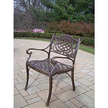 Amazon Com Oakland Living Mississippi Cast Aluminum Arm Chair