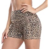 """OUYISHANG Women's 3""""/8"""" Yoga Shorts with Pockets,Workout High Waist Running Athletic Volleyball Biker Printed Short"""