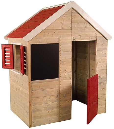Casita infantil de madera para exteriores | Casa de jardín para niños tipo abierto tipo S