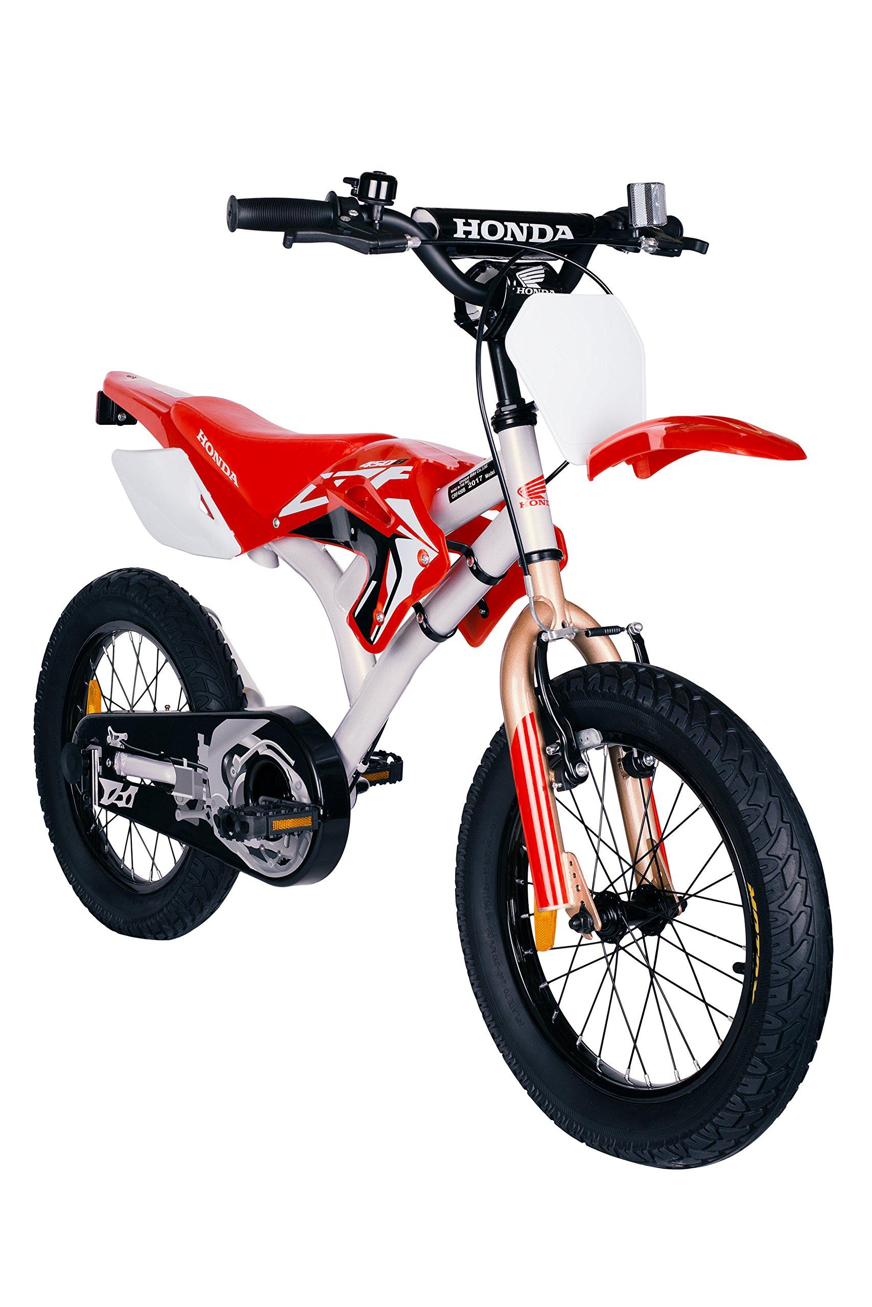Honda bicycle with turbospoke Exhaust -16 inch Kids bike with stabilisers