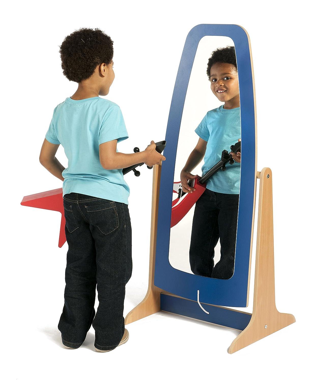 EYFS Galaxy Nursery Dressing up Free Standing Mirror Blue PT280 Office Needs Direct