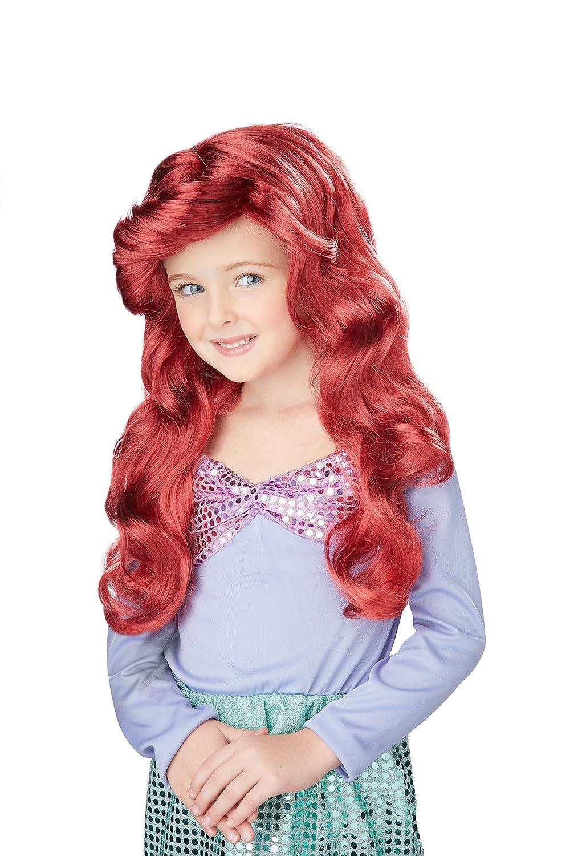 Little Mermaid Costume Wig Child: Auburn Red Child Accessory One Color California Costumes