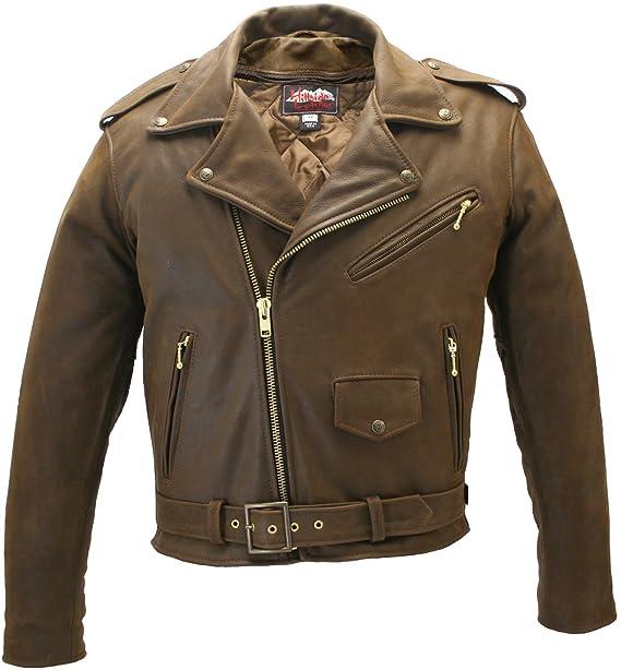 Vintage Leather Jacket >> Men S Classic Vintage Leather Jacket