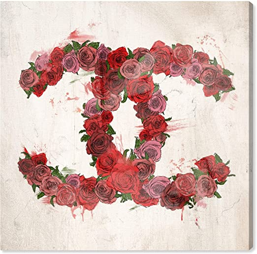 The Oliver Gal Artist Co Fashion And Glam Wall Art Canvas Prints /'Number 5 Rose