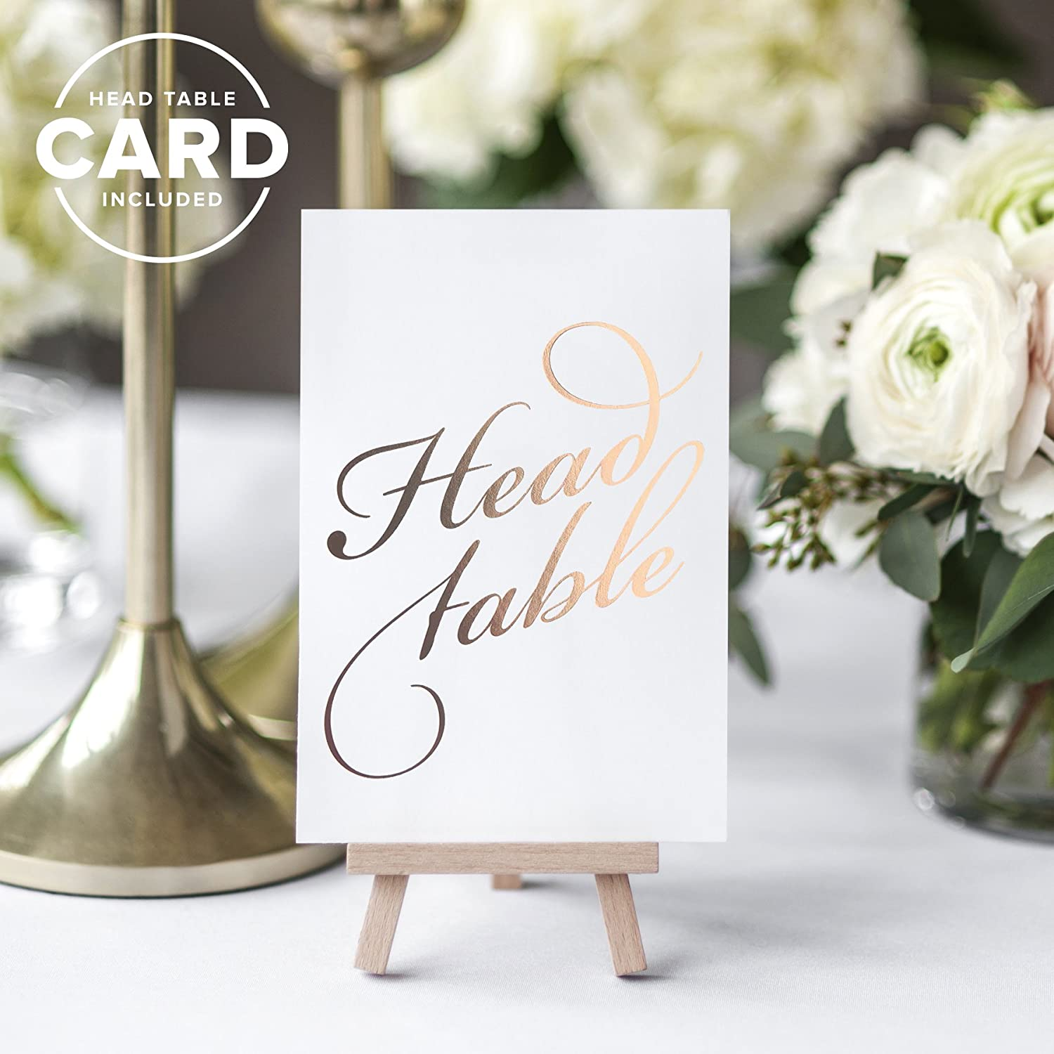 Classic Table Numbers by Bliss Paper Boutique Rose Gold, 1-25