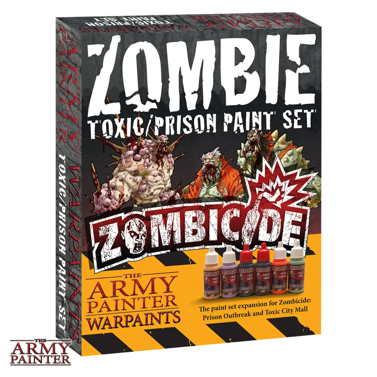 Zombicide Paint Set for Zombicide Prison Outbreak and Toxic City Mall Board Games - Zombie Miniature Paint Set - Zombie Paint Kit of 6 Essential Paints - The Army Painter Zombie Toxic/Prison Paint Set