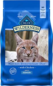 Blue Buffalo Wilderness High Protein Grain Free, Natural Adult Indoor Dry Cat Food, Chicken 5-lb