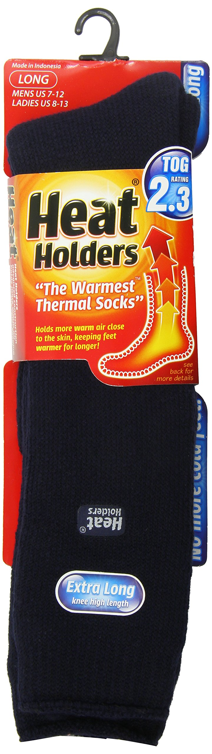 Heat Holders Mens Extra Long Heat Holders, Navy, US Shoe Size 7-12