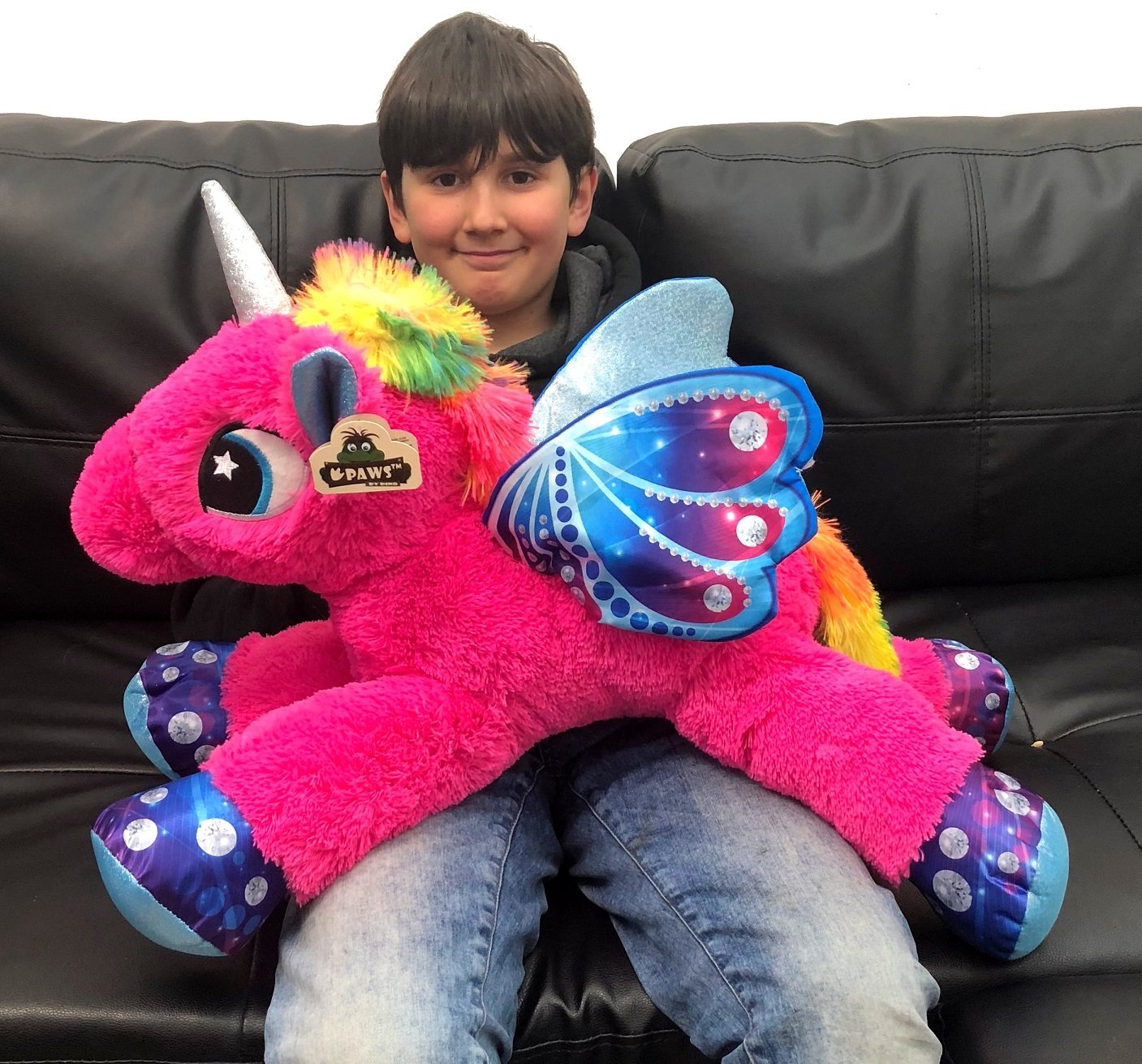 621608b3ea Grande Peluche Unicorno Pony Cavallo Rosa Scuro 60 cm per Bambini Ragazzi  Adulti San Valentino: Amazon.it: Giochi e giocattoli