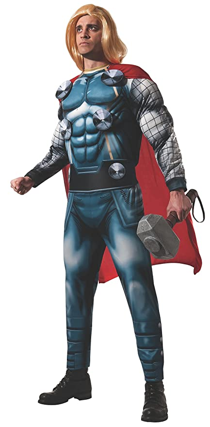 Amazon.com: Rubies Mens Marvel Classic Adult Deluxe Thor ...