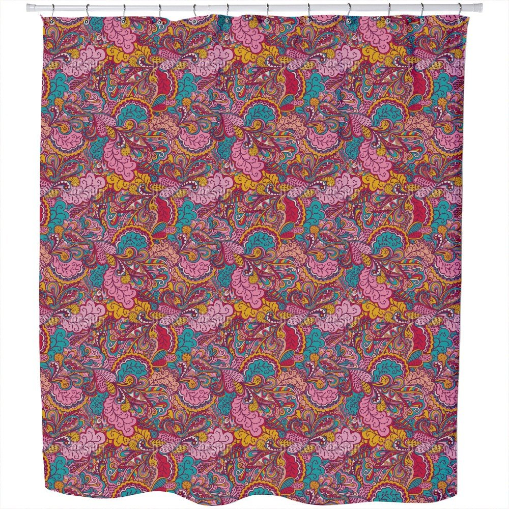 Uneekee The Land Of Fantasies Shower Curtain: Large Waterproof Luxurious Bathroom Design Woven Fabric