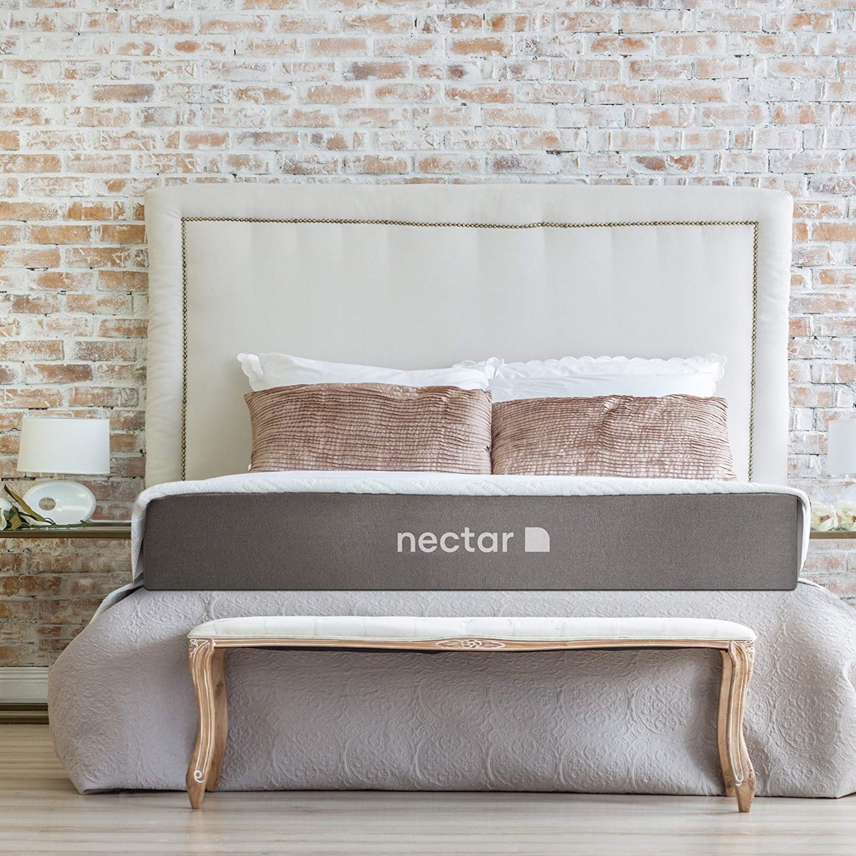 Nectar Queen Mattress + 2 Free Pillows - Gel Memory Foam - CertiPUR-US Certified - 180 Night Home Trial - Forever Warranty